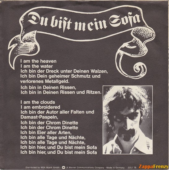 Sofa Frank Zappa Functionalitiesnet