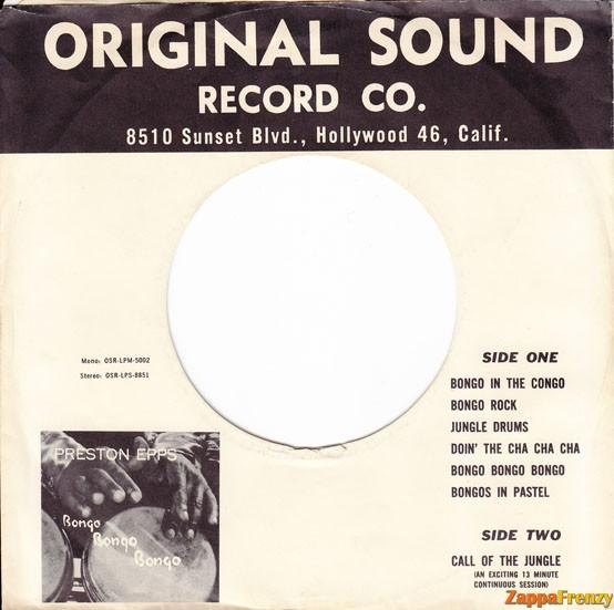 Factory sleeve for US Original Sound singles 1959-1970